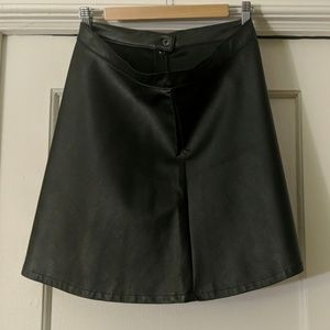American Apparel Black Faux leather skirt
